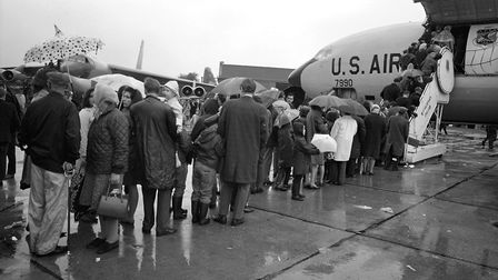 Rain couldn't put off the crowds at Mildenhall Air Show in 1969 Picture: ARCHANT