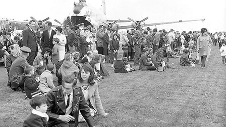 Crowds at Mildenhall Air Show in 1966 Picture: ARCHANT