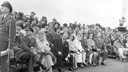 Some of the spectators at Mildenhall Air Show in 1966 Picture: ARCHANT