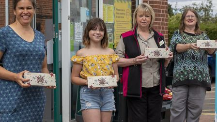 Pictured (left to right): Anna Sterling, teacher at Shotley Community Primary School; Olivia Cresswe