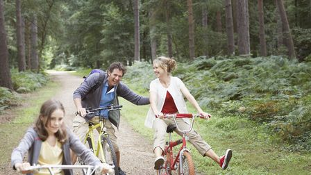 Cycling is the perfect family day out - and is a great form of exercise Picture: Getty Images