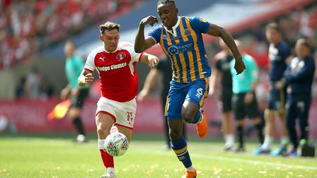 Omar Beckles (right) is out of contract at Shrewsbury. Photo: PA