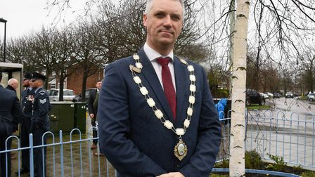 Peter Thompson, Bury Town Councillor for Moreton Hall ward, was disgusted by the robbery. Picture: C