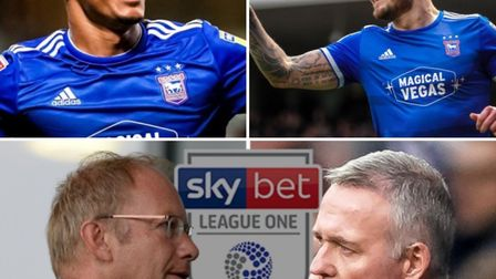Clockwise, from top left, Kayden Jackson, James Norwood and the new EFL salary cap all featured in o