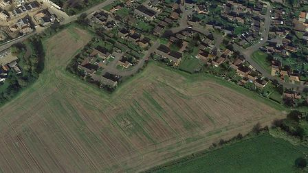 The homes are set to be built on agricultural land in Mendlesham Picture: GOOGLE EARTH