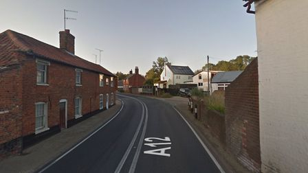 The crash happened on the A12 at Farnham Picture: GOOGLE MAPS