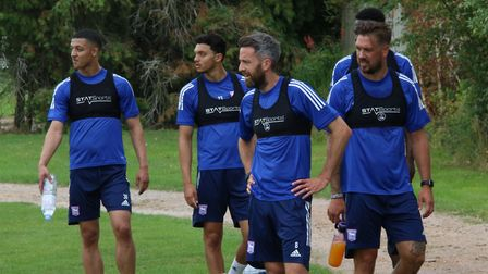 Ipswich Town players returned to pre-season training on July 22. Photo: ITFC