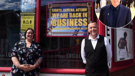 Leiston Film Theatre assistant manager Becky Nichols and general manager Wayne Burns are thankful fo