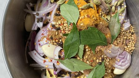 Curry leaf and black cardamom infused butter Picture: Chloe Glazier
