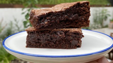 Sea salt fudge brownies using rye flour from Maple Farm and chocolate from Pump Street Bakery - anot
