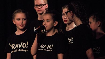 Children from Bravo Theatre Workshops in their 2019 Variety Show. The youngsters have been taking pa