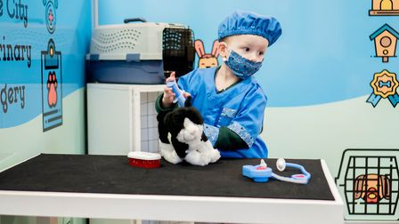 A youngster role playing at being a vet before lockdown Picture: LITTLE CITY