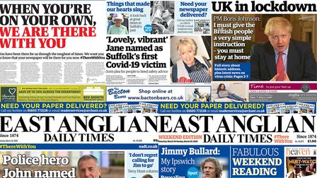 The East Anglian Daily Times has been proudly serving local communities for 146 years