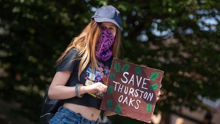 Isla Redgewell was one of around 60 protestors Picture: SARAH LUCY BROWN