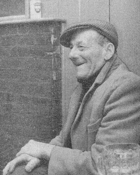 Mr Albert Sharman, whose friend saw the Barnby Shuck.Date: 17 Jan 1968. Picture: EDP Library