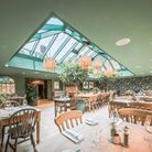The Garden Room is lit by a striking skylight Picture: CHESTNUT GROUP