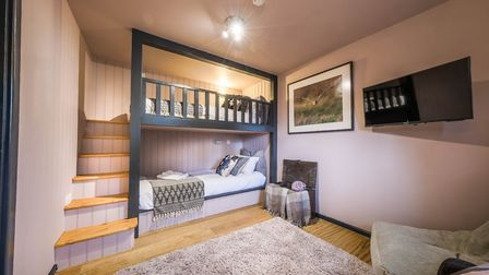 The Family Deluxe Room has bunk beds with a built-in staircase Picture: CHESTNUT GROUP