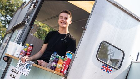 Will Jack serving ice-creams at Needham Lake Picture: SARAH LUCY BROWN