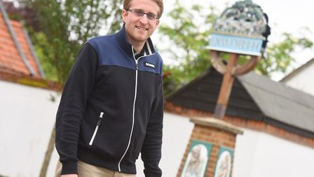 Ben Lord opened the Rambling Rose Coffee House in Ixworth at the end of February. Picture: GREGG BR