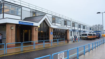 The James Paget University Hospital in Gorleston has reported a 6,000% increase in non-face-to-face