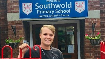 Southwold Primary School teaching assistant Jack Walton has received an award from East Coast Colleg