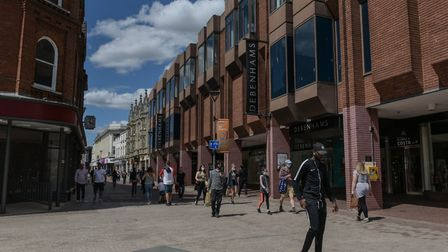Shoppers are returning to Ipswich's town centre - but not in the numbers seen before the lockdown.