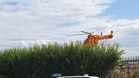The Suffolk Accident Rescue Service and Essex and Herts Air Ambulance responded to the incident Pic