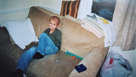 Charlie pictured here during his treatment after being daignosed with a rare brain cancer at 5-years