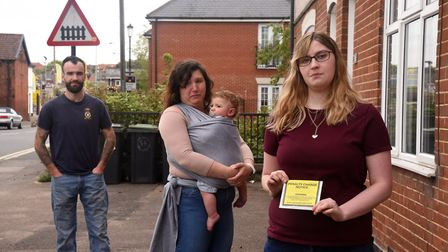 Residents David Ringer, Emi-Jo Potter and Jade Powell of Stowupland Street say new traffic enforceme