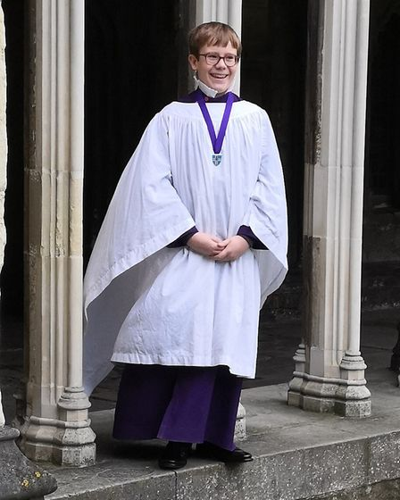 James has been attending St Edmunds School in Canterbury for his scholarship as a chorister. Picture