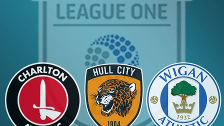 Charlton, Hull and Wigan are preparing to play in League One following relegation. Photo: Archant