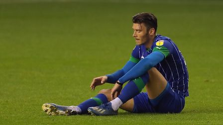 Kieffer Moore looks set to be among a host of players who will depart Wigan. Photo: PA
