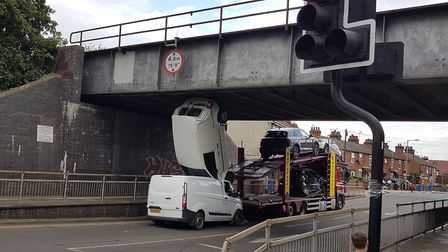 The Bramford Road bridge in Ipswich is not one of those to get cameras fitted despite last week's ac