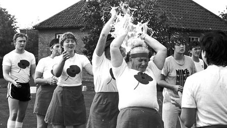 Its A Knockout fun at Eye in 1986 Picture: ARCHANT