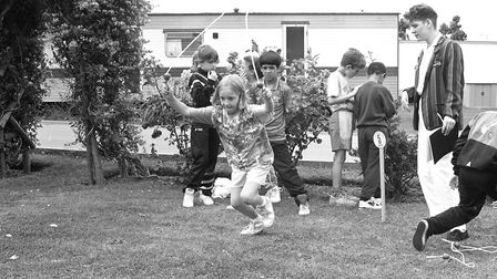 A skipping race at Springfield School's It's a Knockout event in Felixstowe in 1991. Picture: JAMIE
