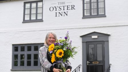 Jane Palmer the landlady of The Oyster Inn Butley Picture: CHARLOTTE BOND