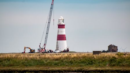 It's not known when the lighthouse will be brought down completely Picture: CARL HUMPHREY
