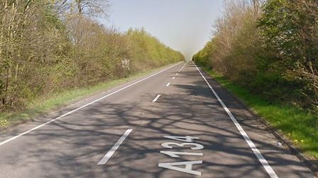 The A134 is currently blocked near Long Melford following a crash Picture: GOOGLE MAPS