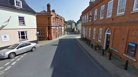 The Thoroughfare in Halesworth will be closed to traffic for four hours a day for the next three wee