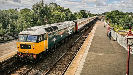 Former Greater Anglia carriages on the Staycation Express. Picture: RAIL CHARTER SERVICES