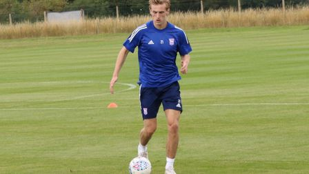 In-demand midfielder Flynn Downes is put through his paces as Ipswich Town return to training Pictur