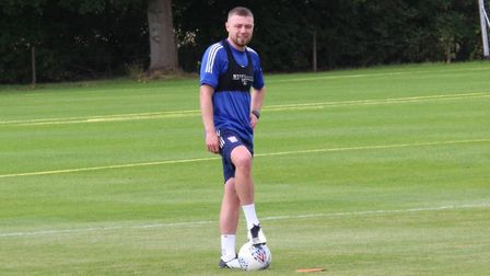 Freddie Sears was also boasting a new look - a short cropped hair cut and beard. Picture: ITFC