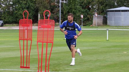 Ipswich Town players returned to pre-season training today. Luke Chambers in action. Photos: ITFC