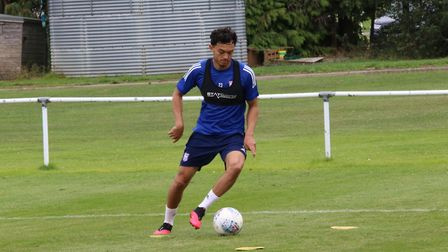 Ipswich Town players returned to pre-season training today. Andre Dozzell in action. Photos: ITFC