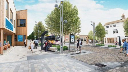 A CGI image produced for the Lowestoft Masterplan for what the Innovation Axis area could look like.