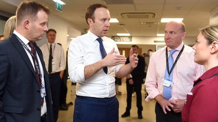 Health Secretary and West Suffolk MP Matt Hancock is pleased with the rise in the number of people a