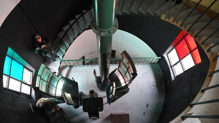 Orfordness lighthouse as it opened its doors to the public for the very first time Picture: SARAH LU