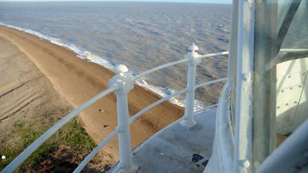 A view from the top of the Orfordness Lighthouse Picture: SIMON PARKER