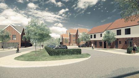 The Chambers Green housing development in Needham Market. Picture: MID SUFFOLK DISTRICT COUNCIL