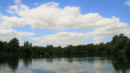 The work will include improving links from Needham Lake to Needham Market town centre . Picture: ARC
